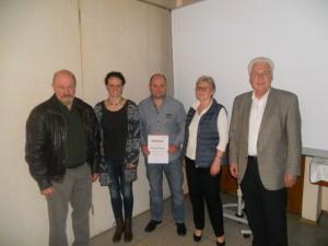40 Jahre: Roland Eggerl, Klaus Mühlhofer, Günther Datzer und Christa Groß