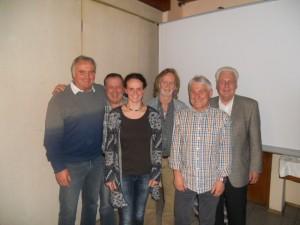 50 Jahre: Armin Holzbauer, Manfred Lenz, Klaus Schiffmann und Manfred Werner