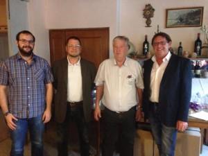 Von links nach rechts: Hans Sigl, Vorstand Klaus Wiesener, Herbert Simmendinger, Dieter Kannengießer