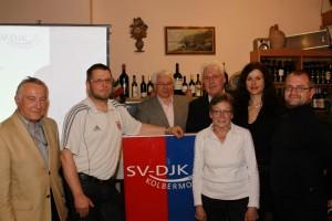 Bild der neuen Vorstandschaft von links nach rechts:Erich Schlarb, Klaus Wiesener,Dr. Hans Kellermann, Monika Schmidbauer,Gerhard Duschl, Karin Maier, Franz Bartl