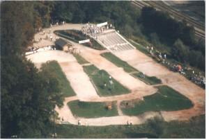 Luftaufnahme BMX Strecke
