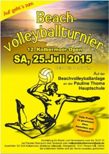 Beach-Volleyballturnier Flyer