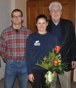Kanut Wünsch, Abteilungsleiter Gewichtheben, Annabell Jahn, Gerhard Duschl, Vorstandssprecher