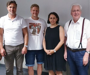 Von links nach rechts: Robert Straub, Andreas Mayr, Petra Niklas, Gerhard Duschl